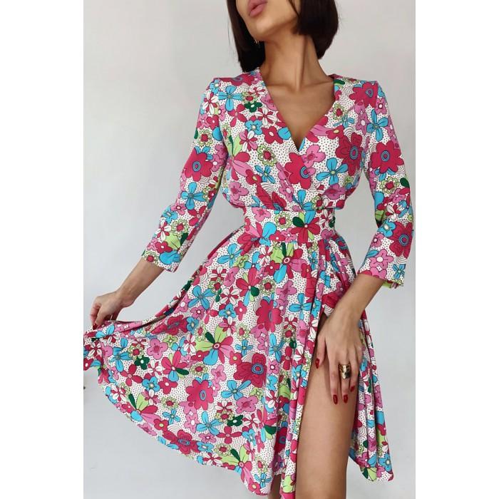 Платье на запах Benni белое