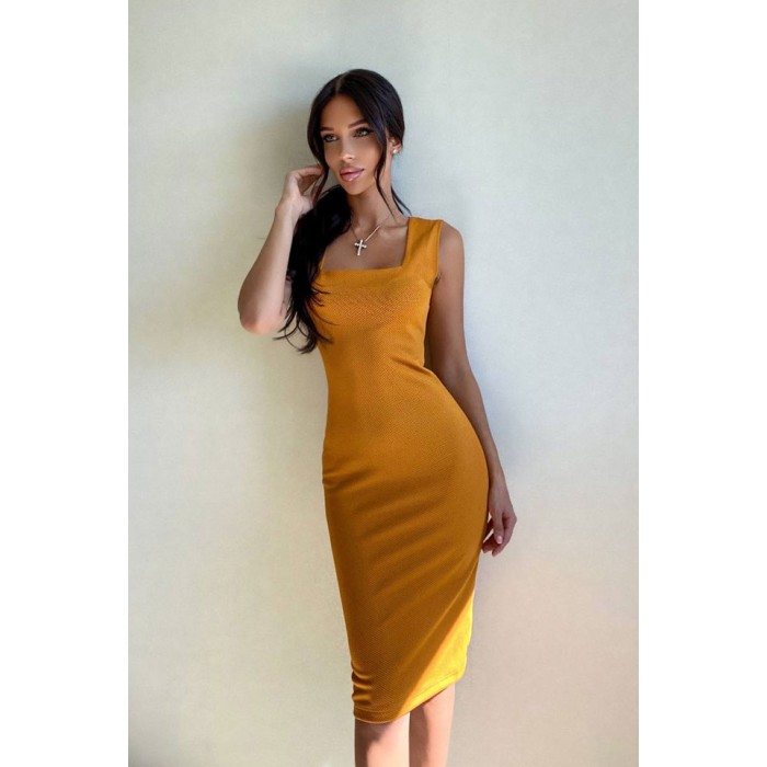 Платье Cool горчичный