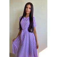 Платье Kase лиловое в горох