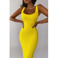 Платье-майка Jane желтого цвета