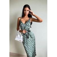Платье-комбинация Lusy    оливка