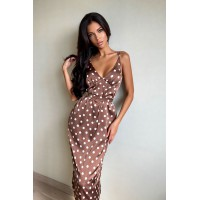 Платье-комбинация Lusy  шоколад