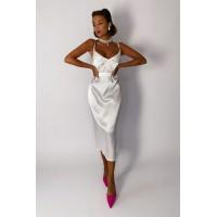 Платье-комбинация Lusy белый