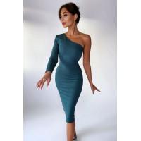 Платье Inel серо-зелёный