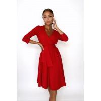 Платье на запах Benni красного цвета