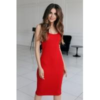 Платье-майка Jane красного цвета