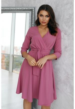 Платье на запах Benni цвета чайной розы