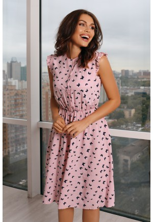 Платье Fly розовое