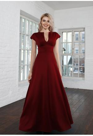 Элегантное платье в пол Beiton винного цвета