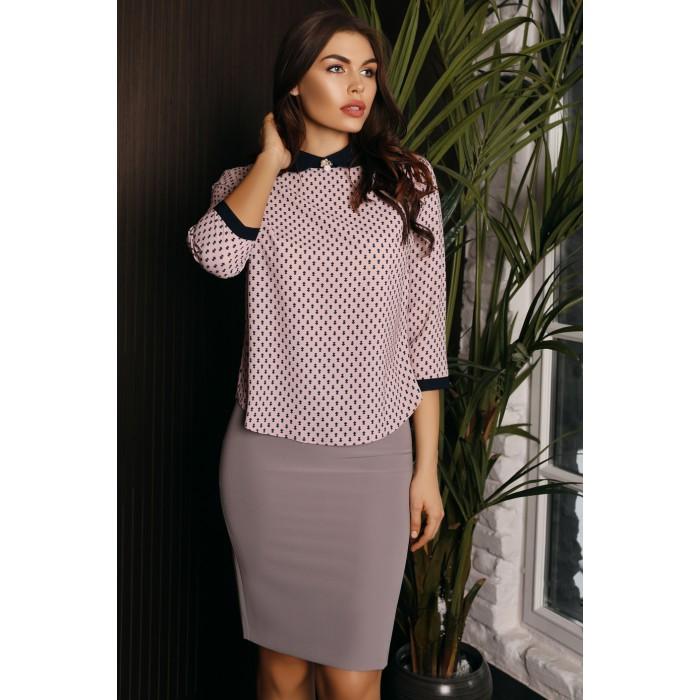 Блуза Amelie пудровая