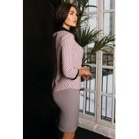 Блуза Amelie (Арт. W20-01) пудровая
