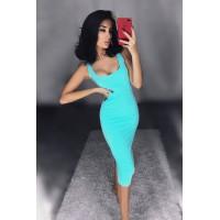 Эффектное платье-майка Jane мятного цвета