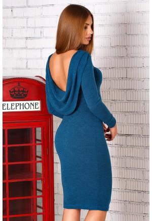 Изумрудное платье с открытой спиной Estety
