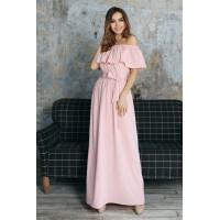 Пудровое платье Lilu с воланами