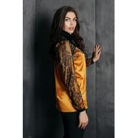 Блуза с кружевом Gold