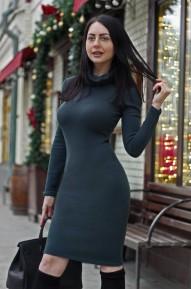 Платье-водолазка Etness Имрудный