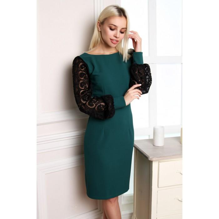 Романтичное изумрудное платье  Eirice