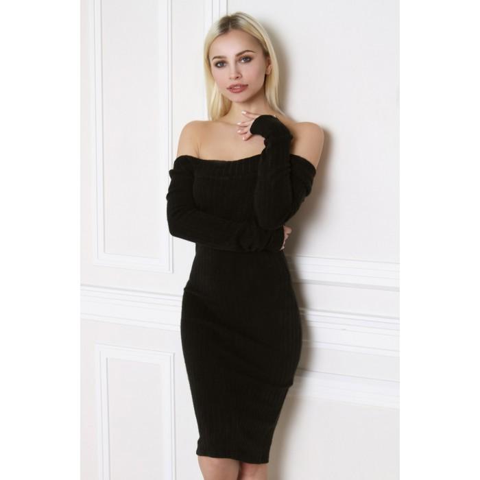 Черное платье по фигуре Erika
