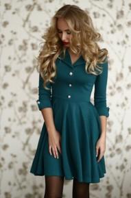 Платье Staily бирюзовое
