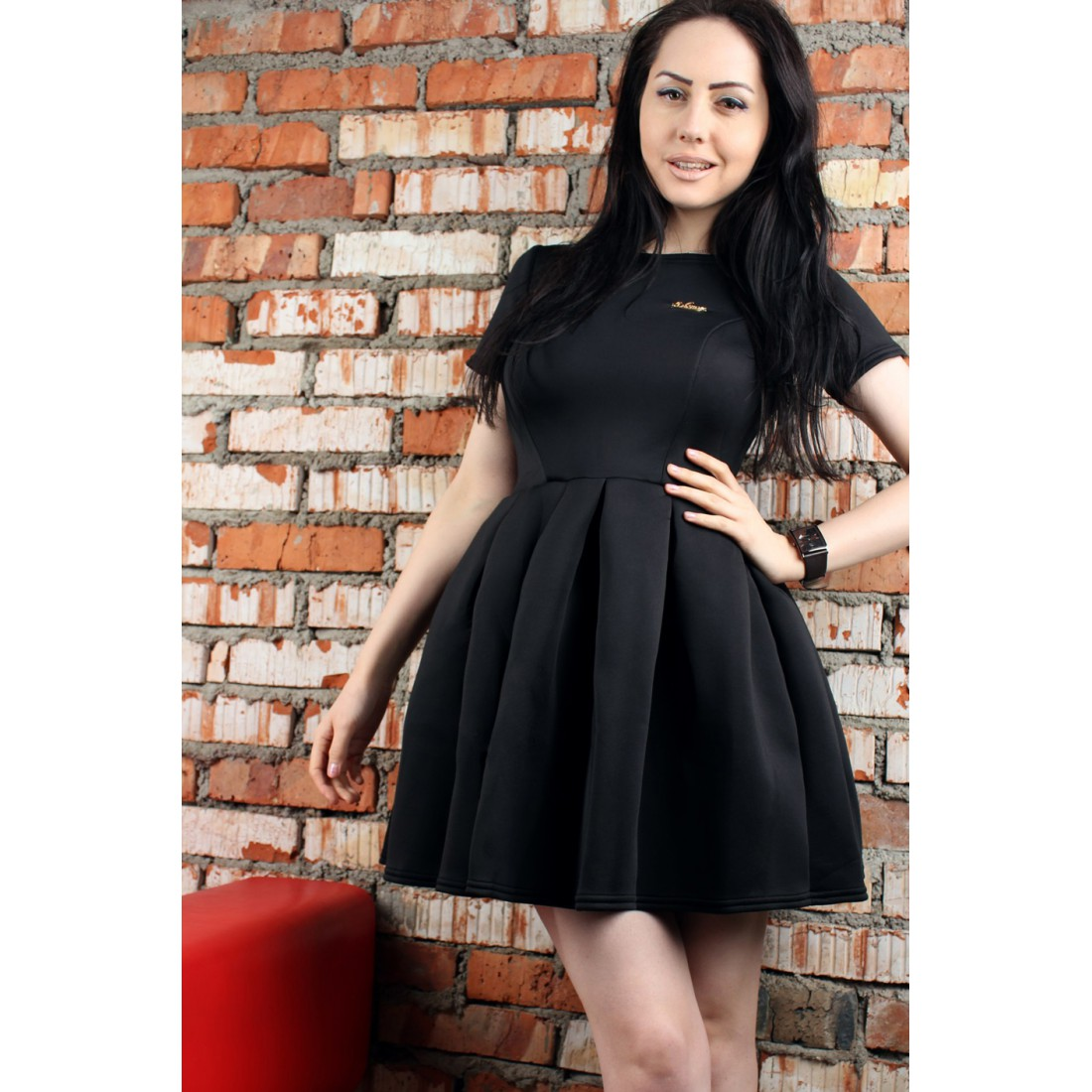 865618c2bc4 Черное платье Shanti в стиле бэби долл (Арт. R200-02)