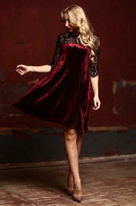 Платье Pam винный