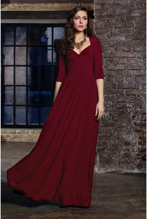 Платье Teilor винное