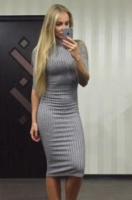 Платье Tike серое