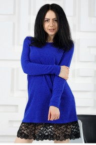 Платье Wool васильковое