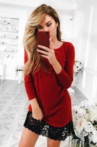 Платье Wool кирпичное