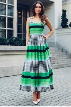 Платье в пол Voomy зеленое