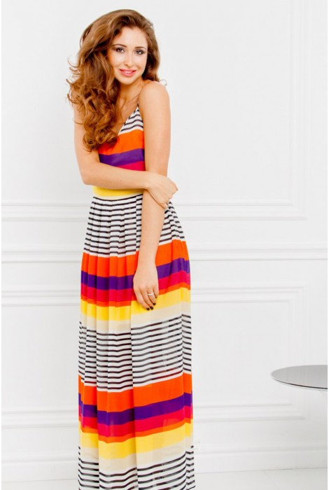 Платье в пол Voomy оранжевый