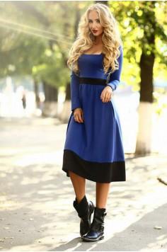 Платье Wow васильковое