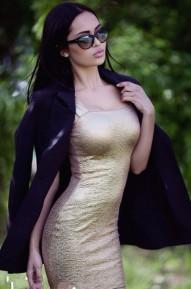 Платье Shoot золотое