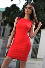 Платье-футляр Meikon красный