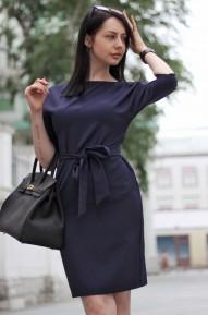 Платья-кимоно Work темно-синие