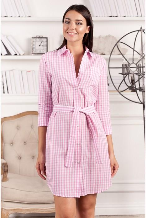 Платье-рубашка Dorni розовое