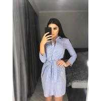 Платье-рубашка Dorni голубое