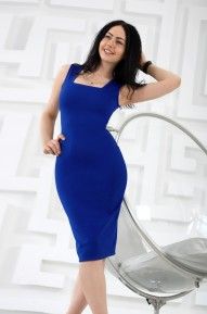 Платье-футляр Cool васильковый  Series