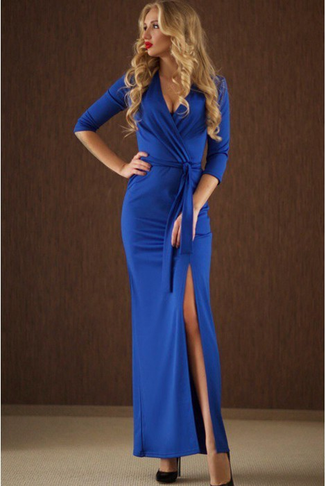 Платье Taina васильковое