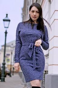 Платье Soft  синее