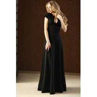 Элегантное платье в пол Beiton черного цвета