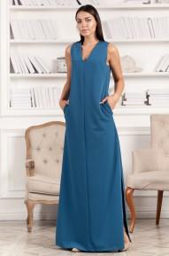Платье в пол Asy синее Series