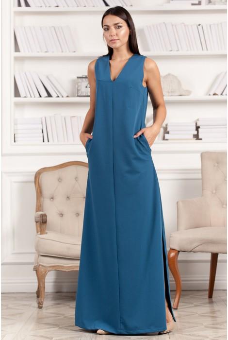 Платье в пол Asy синее