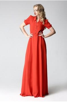 Платье в пол Between огненный оранжевое