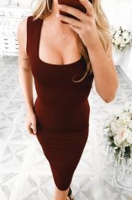 Платье-футляр Cool марсала