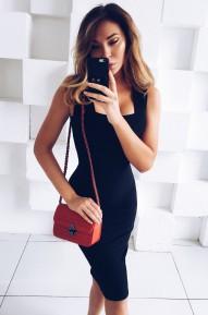 Платье-футляр Cool черное