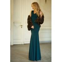 Изумрудное платье в пол Cornett с юбкой-русалкой