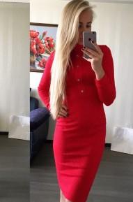 Платье Dairik красное Series