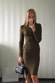 Платье Dairik хаки