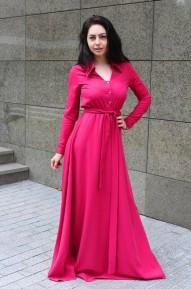 Платье-рубашка в пол Ester